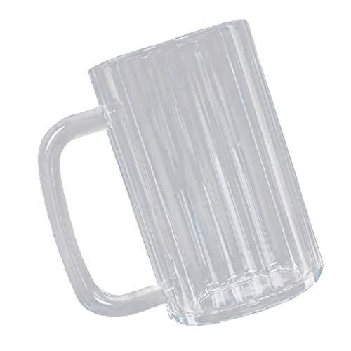 FLAMEER Plastik Bierbecher Acrylbecher Trinkbecher Bierkrug Reisebecher Campingbecher - 650 ml