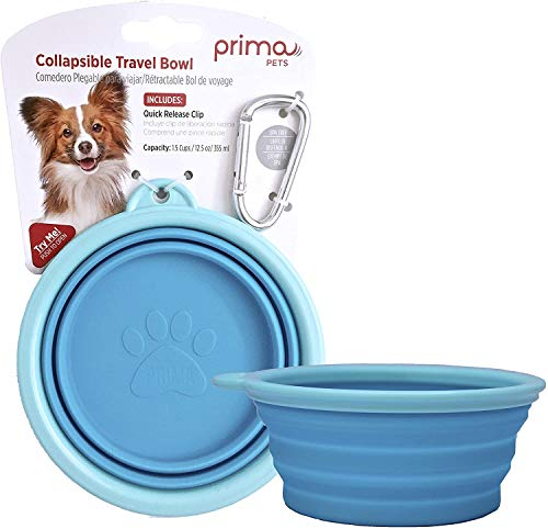 Prima Pets Collapsible Silicone Water Travel Bowl...
