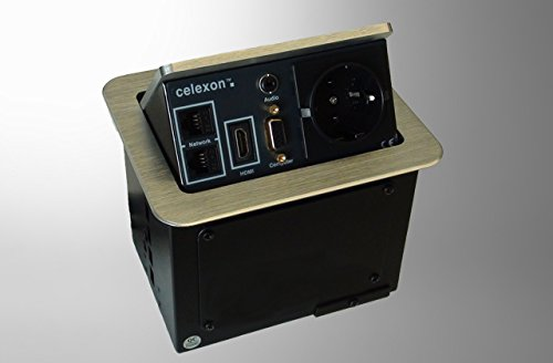 celexon 1091238 Expert Tischanschlussfeld TA-100S, Ordnung auf und unter dem Konferenztisch