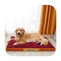 ソフトペットドッグスリーパーソファベッドウィンターウォームコーデュロイ素材レストハウスラウンジャーペットマットネスト大型犬用-1-55X40X6CM