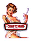 CRAFTSMAN TOOLS Pin Up Girl - Sticker Graphic - Auto Wall Laptop Cell Truck Sticker - Easy Stick Sticker Graphic