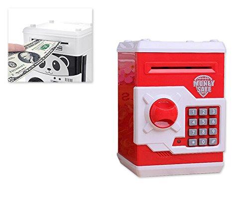 DSstyles sicuro ti piace soldi mini cassa di sicurezza Piggy Bank Money Box Bambini - Rojo
