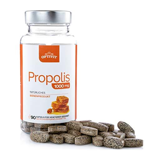 Bienen Propolis Tabletten - Bienenharz Propolis-Extrakt 1000mg Nahrungsergänzungsmittel | 90 Hochfeste vegane zugelassene Tabletten | Für ein gesundes Immunsystem