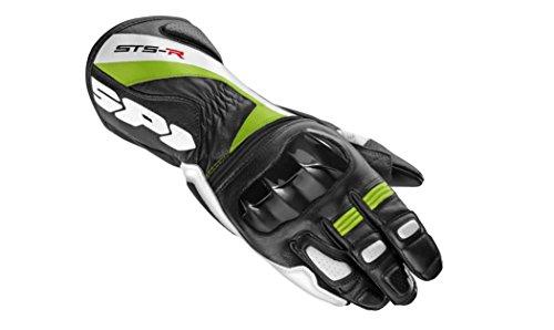 Spidi Handschuhe Motorrad STS-R, Schwarz/Grün, 3XL