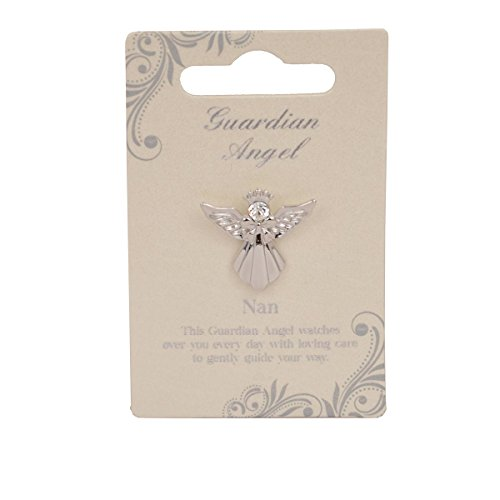 Guardian Angel Nan | Gift Idea | Pind Badge | Brooch Pin, Silver, One Size