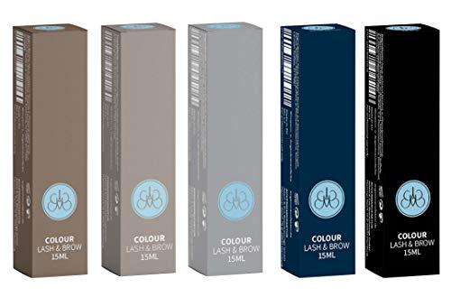 Augenmanufaktur Colour Lash & Brow Wimpern und Augenbrauen färben blue black - permanent Farbe für...