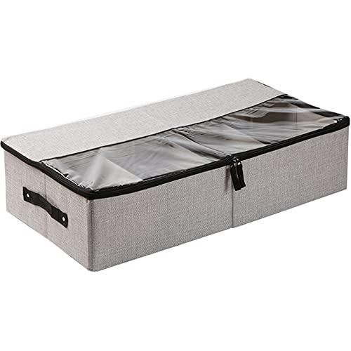 Caja de Almacenamiento de Caja de Zapatos Transparente, Cama de Ahorro de Espacio Gabinete de Zapatillas de Fondo, Caja de Almacenamiento de Zapatos a Prueba de Polvo para el hogar