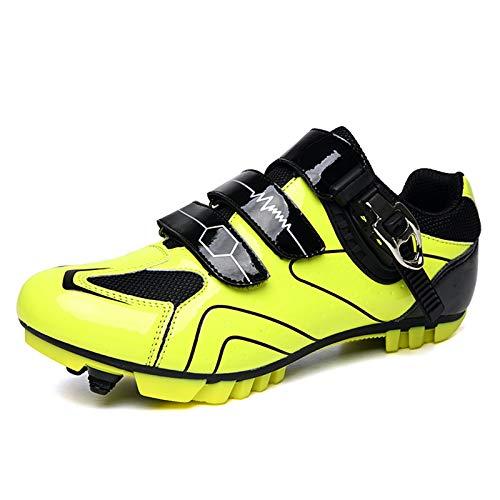SPD - Zapatillas de ciclismo para hombre, transpirables, para exteriores, con tacos SPD, color Verde, talla 39.5 EU