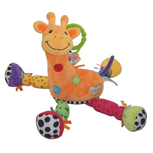 Happy Cherry - Hochet en Peluche Musique - Jouet d'éveil de Poussette pour bébé - Girafe