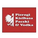 Pierogi Kielbasa Paczki & Wodka Abtropfmatte Küche Home Decor saugfähige Geschirr Trocken Pad 30,5 x 40,6 cm