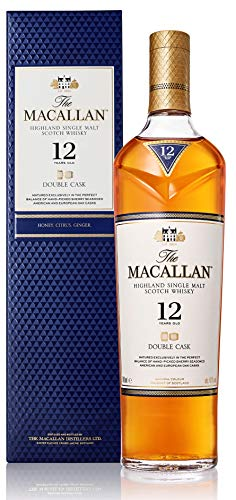The Macallan 12 Jahre Double Cask Single Malt Scotch Whisky, mit Geschenkverpackung, unverwechselbare Sherry-Noten, 40% Vol, 1 x 0,7l