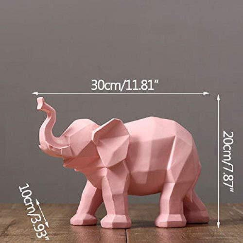 ZXLRH Estatuas Arte Geométrico Origami Elefante Elefante Blanco Y Negro Muebles Decoración del Hogar De Animales Artesanías Figuras Esculturas