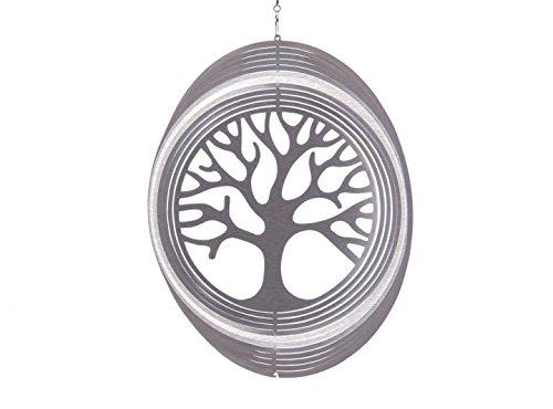 Illumino Edelstahl-Windspiel Baum des Lebens