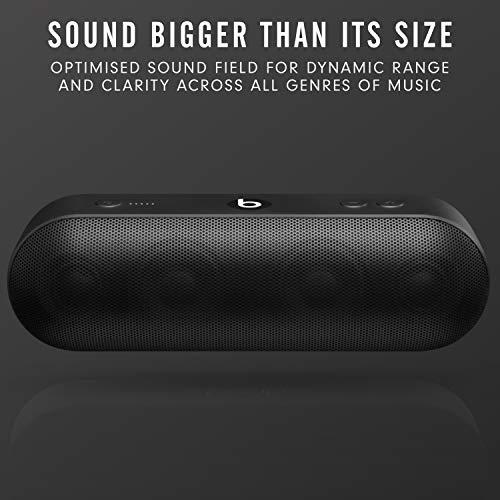 BeatsPill+ mobiler kabelloser Bluetooth Lautsprecher- StereoBluetooth, 12Stunden Wiedergabe, Mikrofon für Telefonanrufe- Schwarz