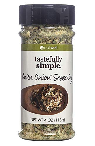 Tastefully Simple Onion Onion Seasoning - Great on Meat, Poultry, Veggies, Eggs, Salads, Sauces - 4 oz