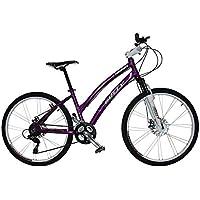 """Gotty Bicicleta de montaña MTB Mujer CRS, Aluminio 26"""", con suspensión Zoom Gama Alta, Cambio Altus Shimano de 24 velocidades y Frenos de Disco. (Violeta)"""