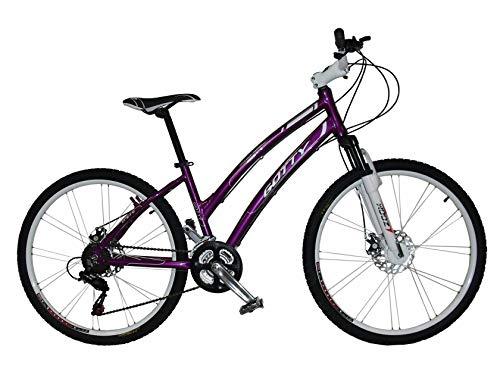 """Gotty Bicicleta de montaña MTB Mujer CRS, Aluminio 26"""", con suspensión Zoom Gama Alta, Cambio Altus Shimano de 21 velocidades y Frenos de Disco. (Violeta)"""