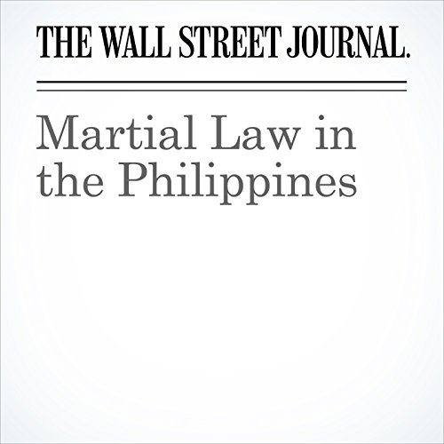 Martial Law in the Philippines copertina
