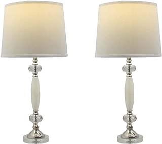 Martin Richard W-5164-2PK Table Lamp, Clear & Polished Nickel, 2