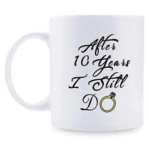 Regali per il decimo anniversario - Regali per il decimo anniversario di matrimonio per coppia, regali per il decimo anniversario Tazza da caffè divertente per coppie, marito, marito, moglie, moglie,