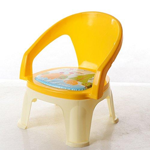 Sofa kruk Brisk- Children's eetkamerstoel Met klankstoel Bring diner tafel Kinderstoel eettafel Rugleuning kruk plastic Yellow - Without Plates