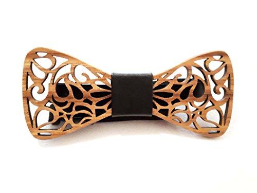 SetProducts Effet Garanti Noeud Papillon Bois Sculpté fait main | Mariages, Cérémonies, Le coup de peps à votre tenue ! | Plusieurs modèles et coloris disponibles | Taille réglable (Marron 84)