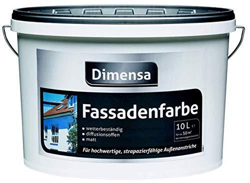 Dimensa Fassadenfarbe weiss | Außenfarbe | Wetterschutz | Fassaden-Schutz