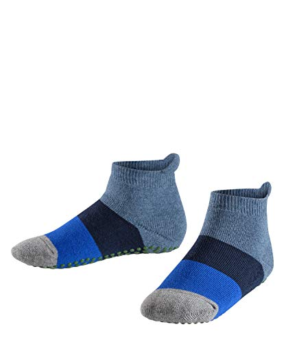 FALKE Kinder Stoppersocken Colour Block - 90% Baumwolle, 1 Paar, Blau (Denim 6666), Größe: 27-30