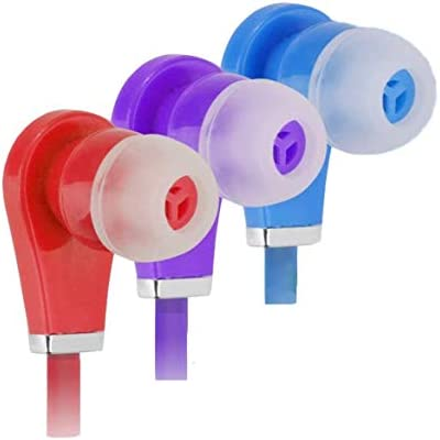 3 Pack Bulk Earbuds for Kids Ear Buds for School Class Headphones for Boys Girls Comfy Multipack product image