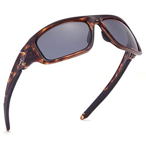 Bassdash V01 Gafas de sol deportivas polarizadas para hombres y mujeres, 100% protección UV para pesca, kayak, senderismo, conducción y ciclismo