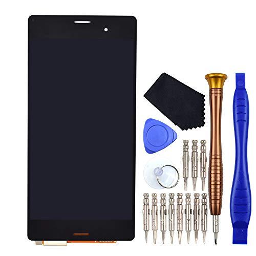 VEKIR Negro D6603 Reparación de la Pantalla LCD de la Pantalla táctil del digitalizador reemplazo Compatible con Sony Xperia Z3 D6653 D6616 D6643 SO-01G SOL26 D6646