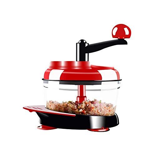 Bento Box Légumes Shredder, hachoir à viande manuel, bébé Predator, Manuel robot culinaire, Ravioli multi-fonctionnelle Farce Machine, Cuisine Gadget, Petite maison de légumes Shredder, Rouge