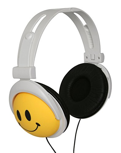 Original Authentic Happy CANZ Headphones by Roxant with Smiley Face Emoji, Foldable, Fully...