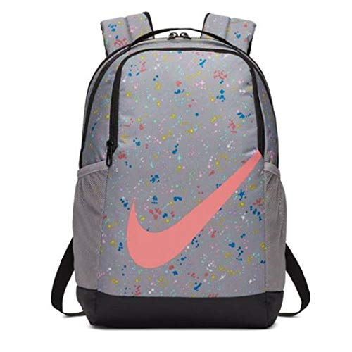 Nike Y Nk Brsla Bkpk - Aop Ho19 Rucksack Unisex Kinder Einheitsgröße Mehrfarbig (Atmosphere Grey/Pink Gaze)