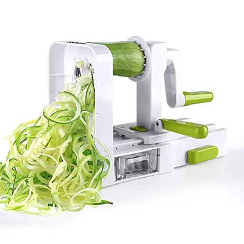 Sedhoom Taglia Verdure/Affetta Verdure a Spirale con 5 Lame, spiralizzatore/Affettatrice Verdure da Cucina.Tagliare/affettare/spaghettizare per Gli Spaghetti di Verdure(zucchine,Cetriolo)