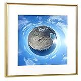 artboxONE Poster mit Rahmen Gold 20x20 cm Fuerteventura -
