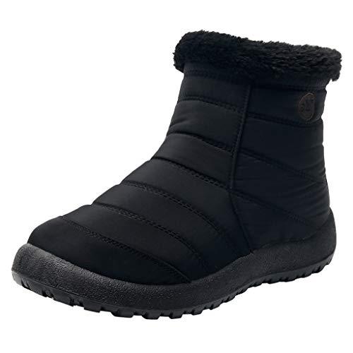 Damen Herren Winterschuhe Warm Gefüttert Wasserdicht Winterstiefel rutschfeste Flach Schneestiefel Thermostiefel Leicht Outdoor Winter Boots Fleece-Futter Ankle Boots Gemütliche Schuhe