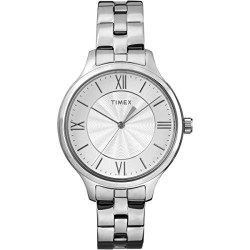 Timex Reloj Analógico-Digital para Mujer de Cuarzo con Correa en Acero Inoxidable TW2R28200