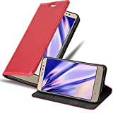 Cadorabo Book Case Compatible with Xiaomi RedMi Note 3 in Apple RED - with Magnetic Closure, Stand Function and Card Slot - Wallet Etui Cover Pouch PU Leather Flip