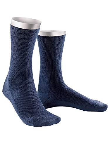 Weissbach Socken »Elite« aus reiner Schurwolle Marineblau
