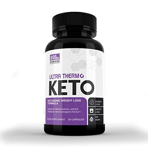 Ultra Thermo Keto KETOGENIC Weight Loss Formula - Keto Capsules for Men & Women - Burn Body Fat & Weight - Keto Diet - Raspberry Ketones Extract-SUPPLEMENT PARADISE