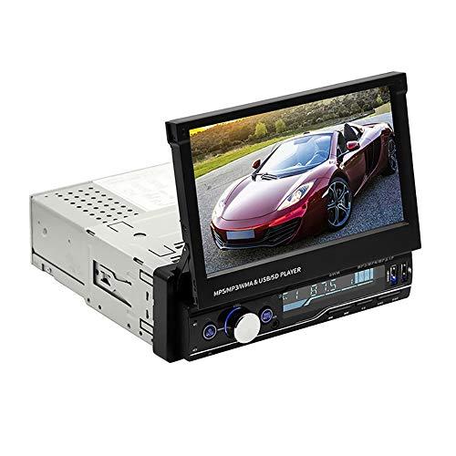 Kikier Reproductor de coche, pantalla plegable reproductor de MP5 dual USB Bluetooth FM radio 7 pulgadas HD reproductor de MP5
