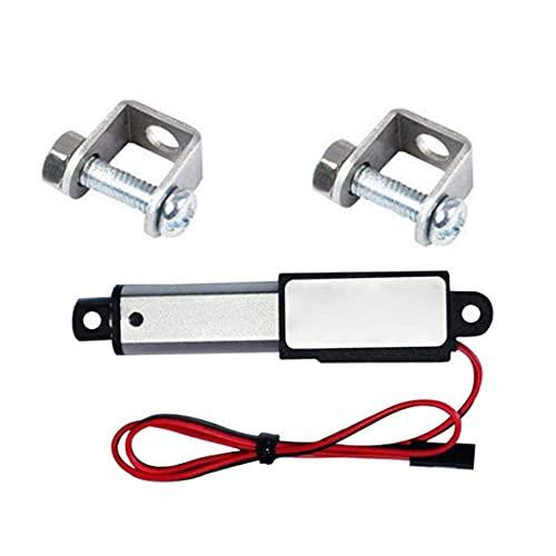 Actuador Lineal 12V 30N Velocidad 30 mm de Longitud 30 mm Micro Mini Impermeable eléctrico con Soportes de Montaje para automóviles