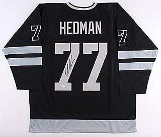 Victor Hedman Autographed Signed Lightning Black Throwback Jersey - JSA Certified