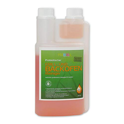 PROBISA Grill & Backofen Reiniger. Kraftvolles Fettlöser Konzentrat. Ergibt 25 Liter gebrauchsfertigen Reiniger. Er eignet sich für fast alle Oberflächen. Mit Gartenheld Zertifizierung