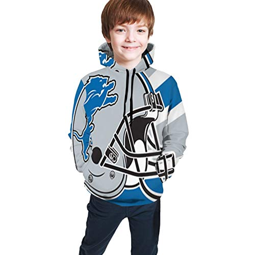 VF Authorization Teen Detriot Lions Logo Hoodie Long Sleeve Hoodie Sweater 10-12 Years