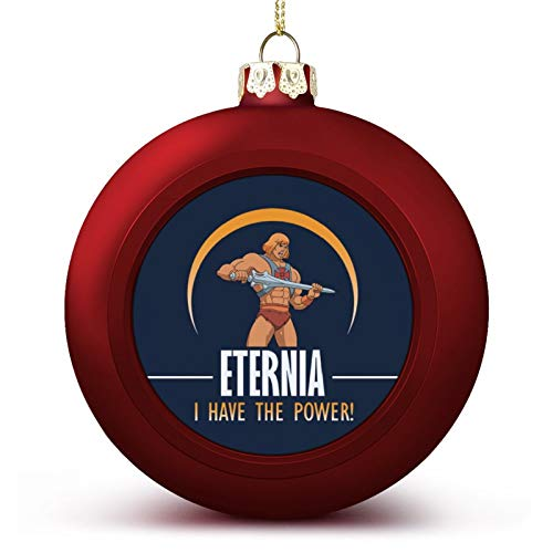VNFDAS He Man Masters Of The Universe Eternia I Have The Power Custom Christmas ball ornaments Beautifully decorated Christmas ball gadgets Perfect hanging ball for holiday wedding party decoration