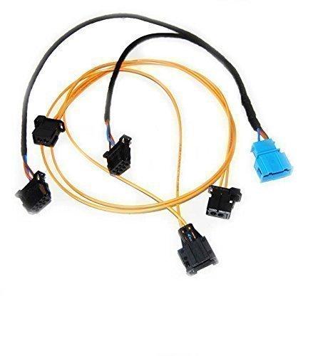 Kabelsatz CD-Wechsler - Radio - Navigation - AMI - Audi MMI 2G Plug u. Play LWL Lichtwellenleiter + Stromversorgung - Audi Originalteile
