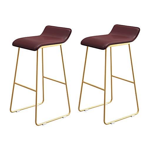 XUEPING barkruk, barstoel, tegen stoel, kruk, restaurant, keuken, tuinligstoel gemaakt van ijzer, kussens, houder van staal, hoogte 65/70/75 cm, 3 kleuren