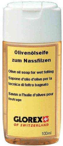Glorex Olivenölseife zum Nassfilzen 100 ml, Olivenöl, Mehrfarbig, 12.7 x 5.7 x 2.6 cm